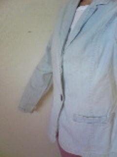 OLIVE薄いブルーデニムジャケット