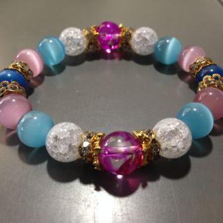 パステル可愛いレディースのパワーストーン 数珠
