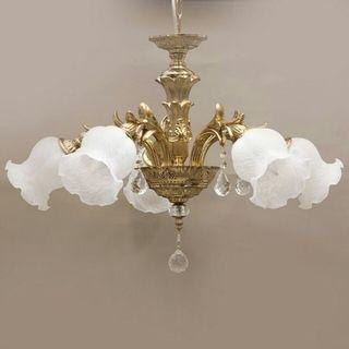 ヨーロピアン シャンデリア 5灯 ブロンズ アンティーク照明