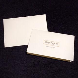 LOUIS  VUITTON メッセージカード