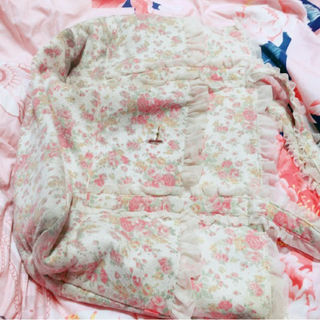 LIZLISA小花柄ベビーピンク大判トートバッグ