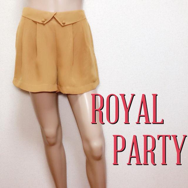 ゆるかわロイヤルパーティー きれいめショートパンツ(ROYAL PARTY(ロイヤルパーティー) ) - フリマアプリ&サイトShoppies[ショッピーズ]