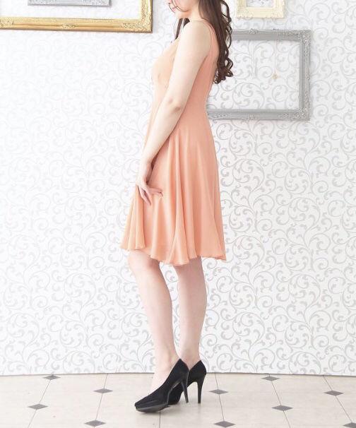 新品 ピンク シフォン ワンピース ドレス