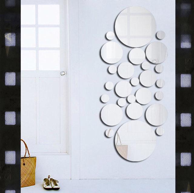 お洒落な壁に貼れるウォールステッカータイプのミラーセット - フリマアプリ&サイトShoppies[ショッピーズ]