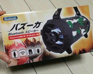 新品~Bluetoothバズーカスピーカー グリーン×迷彩