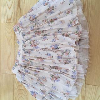 ピンク 花柄 スカート