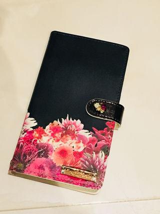 リゾートフラワー ブラック 手帳型