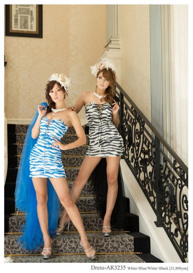 ゼブラ柄ドレス