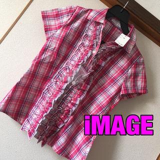 新品iMAGEフリルシャツ