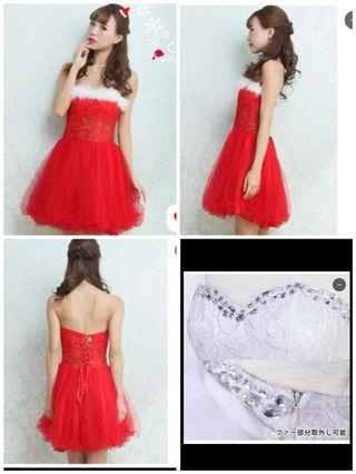 ミニドレス  RED