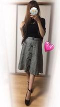 美脚ハイウエストAラインスカート