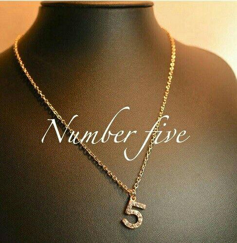 No.5 デザイン ゴールド ネックレス メンズ レディース