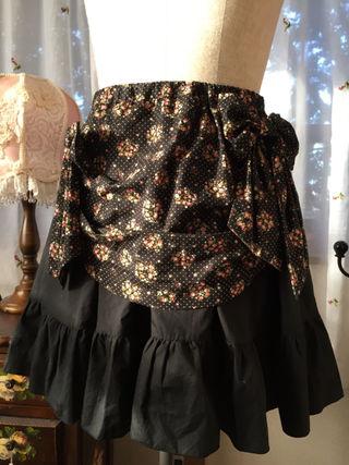PEACE NOW*花柄オーバースカート付フリルスカート