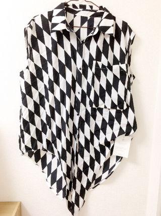 BLESS TOKYO))幾何学サテンシャツ*