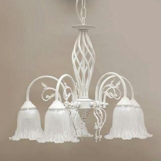 ヨーロピアン シャンデリア 5灯 ホワイト アンティーク照明