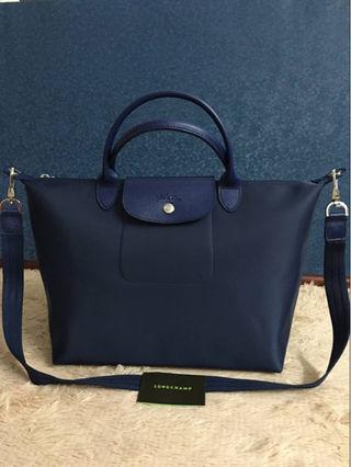 Longchamp ロンシャン ネオ ネイビー M