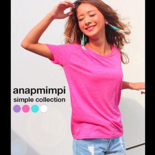 ANAP MIMPI カラーシンプルTシャツ