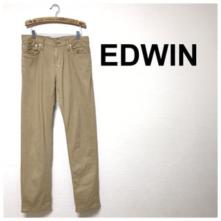 54美品EDWIN シンプル ベージュ ジーンズ