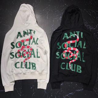 Anti social club 男女兼用パーカー