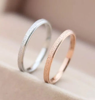 チタンステンレスリング指輪
