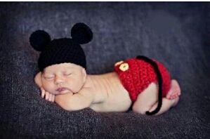 可愛い 赤ちゃん ベビー 衣装 ミッキーマウス 風 撮影