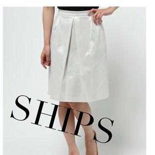 SHIPS パールホワイトスカート