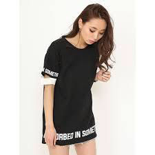 値下げENVYM/スリーブオープンロゴTシャツ