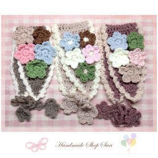 handmade 森ガールお花のヘアバンド