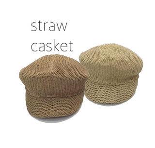 straw casket