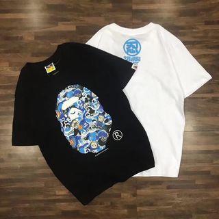 APETシャツ 2色選択 ブルー おしゃれ