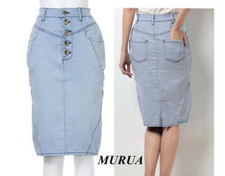 新品 MURUA 釦フライ切替タイトスカート