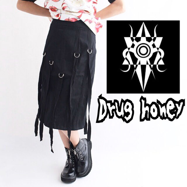 【新品/Drug honey】アジャスターベルト装飾スカート(FUNKY FRUIT(ファンキーフルーツ) ) - フリマアプリ&サイトShoppies[ショッピーズ]