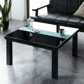 こたつ 75×75cm ブラック・ブラウン ローテーブル