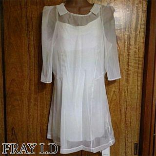 FRAY I.D襟付きドレス
