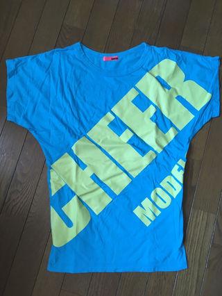 可愛い 派手 CHEER ロゴTシャツ