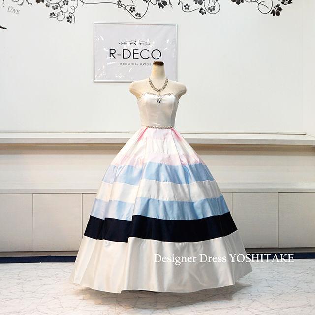 ウエディングドレス(パニエ無料) パステルドレス