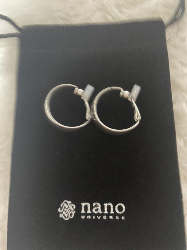 ナノユニバース メタルリングイヤリング