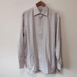 バーニーズニューヨーク コットン格子柄ドレスシャツ41