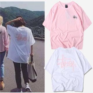STUSSY 2枚セット男女兼用 Tシャツ 超人気