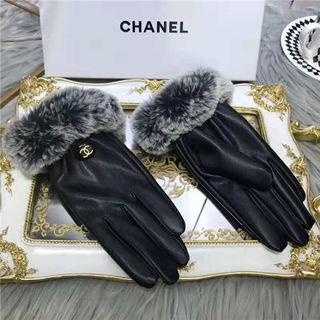 シャネル冬レディース暖かいレザー手袋