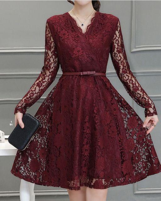 33%OFF! エレガントな美ドレス ボルドー Lサイズ