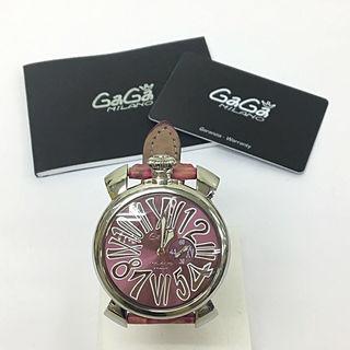 鑑定済み正規品ガガミラノマヌアーレ46腕時計