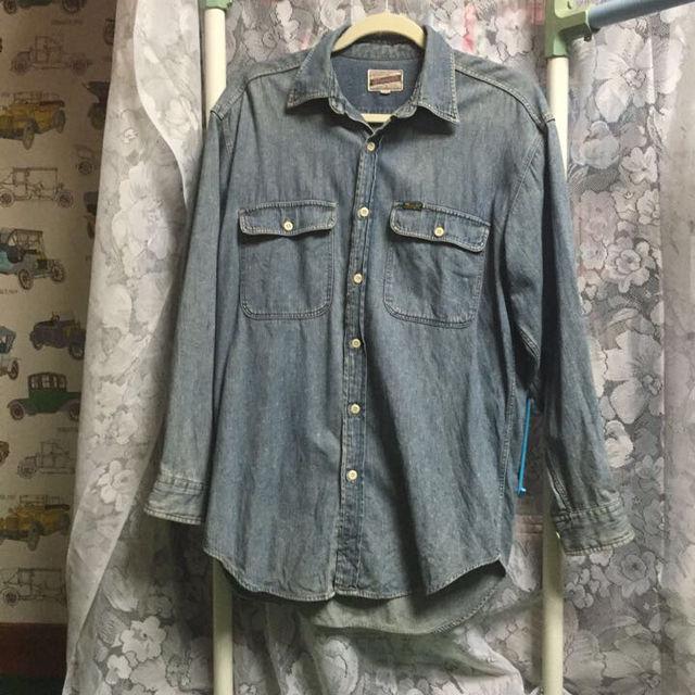 大きいサイズ美品デニムシャツ(Wrangler(ラングラー) ) - フリマアプリ&サイトShoppies[ショッピーズ]
