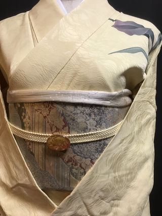 訪問着  地紋入り  しつけ糸つき  着物