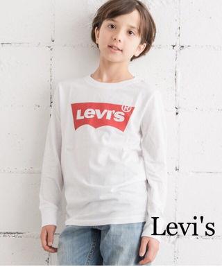 定価3,132円Levi's キッズロゴ入りロングシャツ