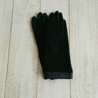 marie claire新品手袋/ロゴ革/ブラックD