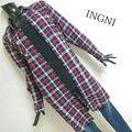 INGNI*ロングチェックシャツ