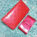 ヴェルニジッピー長財布と煙草ケースのセットピンク