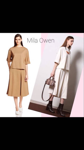 Mila Owenスカート風ガウチョセットアップ