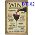 ブリキ看板 WINE [BT182]